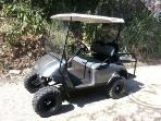 Golf cart available for rent with your stay.  Better than a car, easier, smaller more fun!