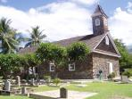 Hawaiian singing - great historical church- So Kihei Road