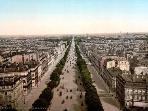 Champs Elysée view in 1905 from Arc de Triomphe