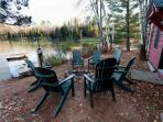 Private Fire Pit On The Lake