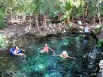 Cenote 100 feet from the casa