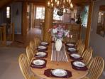 Dining room seating for ten.