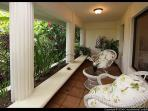 Be one with nature on our guest suite balcony
