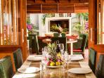 Enjoy a romantic dinner at the villa