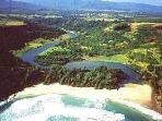 Walk down the side of Kilauea River Valley to Lovely Kahili-Quarry Beach