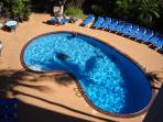 Relax in our heated pool