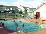 simmering heated pools