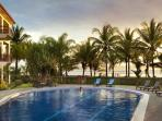 Pool and sunset at Bahia Azul