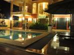 Poolside, Night view