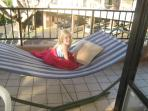 hammock on the lanai