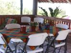 Dine, read, or wi-fi on the upper deck of the Palapa - a favorite guest gathering. spot'.