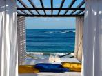 view from bed at Harmony beach