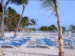 Exclusive access to Bavaro Beach with FREE use of Private Beach Lounges