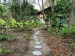 Walk way through the garden to the caretakers house.