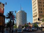 Capitol records is just two blocks away on Hollywood & Vine