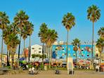 Venice Beach Boardwalk, with a 20-mile beach bike trail and world-class skateboard park.