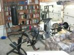 Exercise Gym (Precor Elliptical, weights, cardioglide, stairstepper, rowing machine