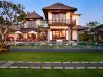 Balangan Beach Villa at dusk...