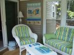 Relax on the three season sun porch ...