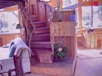 spiral stairs to loft