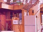 veiw to the loft from kitchen cink