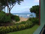 A view from the lanai in #111, watch the sunset, turtles playing, or just great views of Molokai