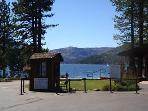 Private marina, beach, and boat launch at Donner Lake about 4 miles from the house