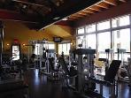Rec center with weights, classes, pools, spa all about 1 mile from the house