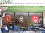 Nearby Teo's Gelato Features best gelato in Austin and Outdoor Patio and Firepit