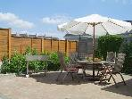Secure Private Rear Courtyard Dining & BBQ Area