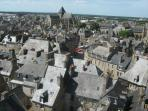 Tower view of Dinan (Place Cordeliers centred)