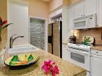 Granite counter tops, dishwasher, microwave oven, espresso coffee maker.  Ko Olina Resort, Oahu, HI