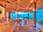 Villa Punto de Vista - Dinning Terrace/Bar  with expansive ocean Views!