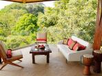 Terrace lounge- Perfect to read a book or watch the monkeys play in the canopy!