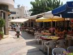 Pissouri village square during the day