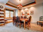 White Wolf Townhome Dining Breckenridge Luxury Lodging