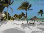 White sandy beaches by Omni Hotel