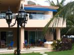 Our 2nd floor villa with blue awning