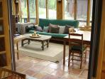 Sun porch with futon
