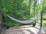 Hammock by hot tub