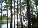 view of dock from cabin