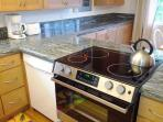 New electric range and all the appliances you need to prepare your gourmet meals