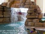 Waterfall in the Indoor Swimming Pool
