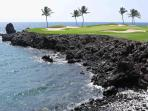 Enjoy being right on the Mauna Lani Golf Course