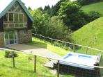 The hot tub with stunning panoramic views
