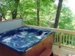 """Six Person Hot Tub On A """"Deck In The Trees""""!"""