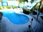 VIEW OF POOL FROM UPSTAIRS