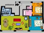 Two-Bedroom Magnetic Apartment | Floorplan