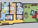 Old Town Suite Apartment | Floorplan