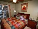 2nd Bedroom with balcony overlooking the ski runs